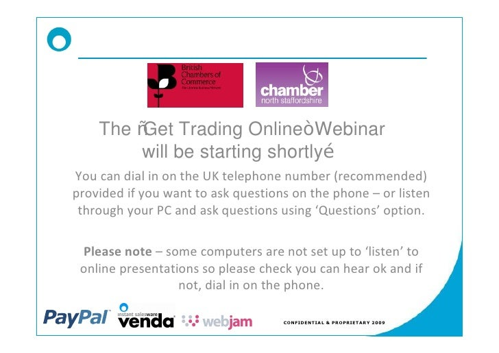 North Staffordshire Chamber   Get Trading Online Slides
