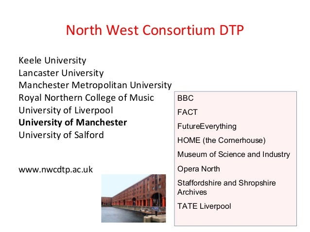 North West Consortium DTP Keele University Lancaster University Manchester Metropolitan University Royal Northern College ...