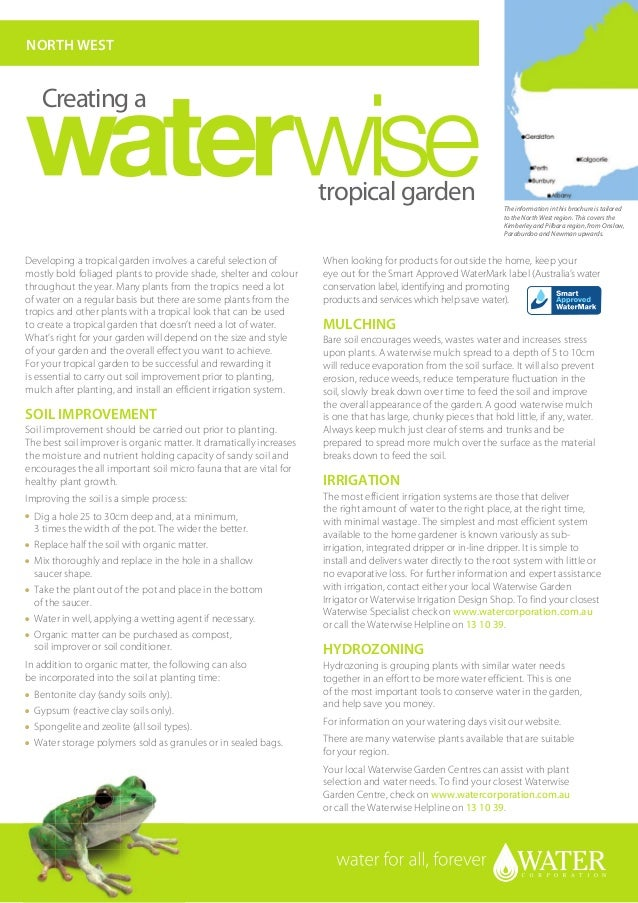 North West Australia: Creating A Waterwise Tropical Garden - Water Corporation
