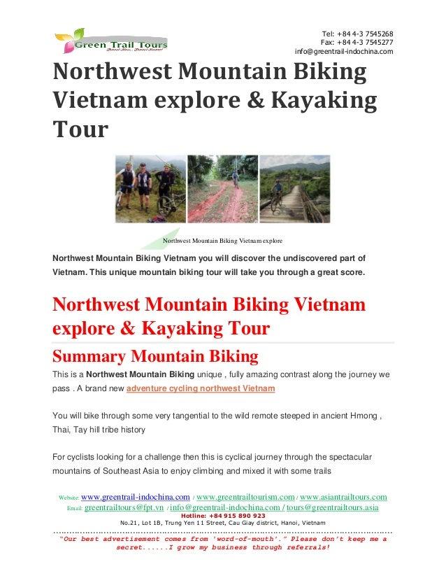 Northwest mountain biking vietnam 16days & kayaking tour