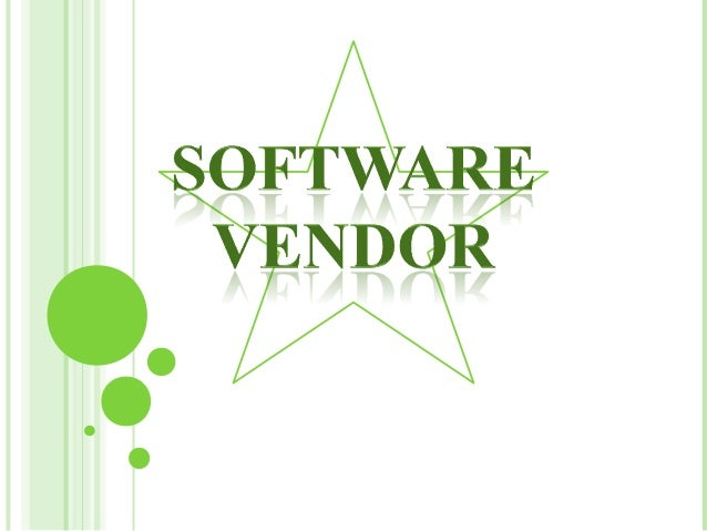 Software Vendor (Norton Anti-Virus)