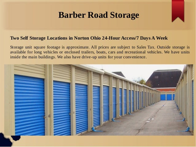 Barber Road Storage : Norton Ohio Barber Road Storage