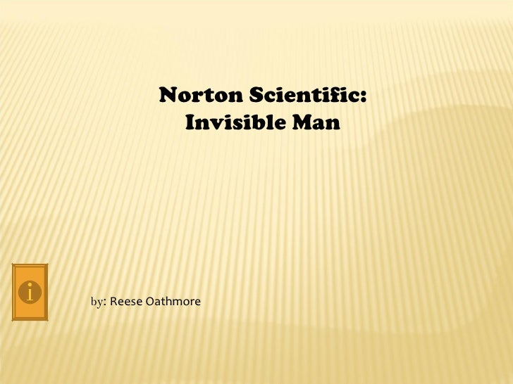 Norton Scientific:             Invisible Manby: Reese Oathmore