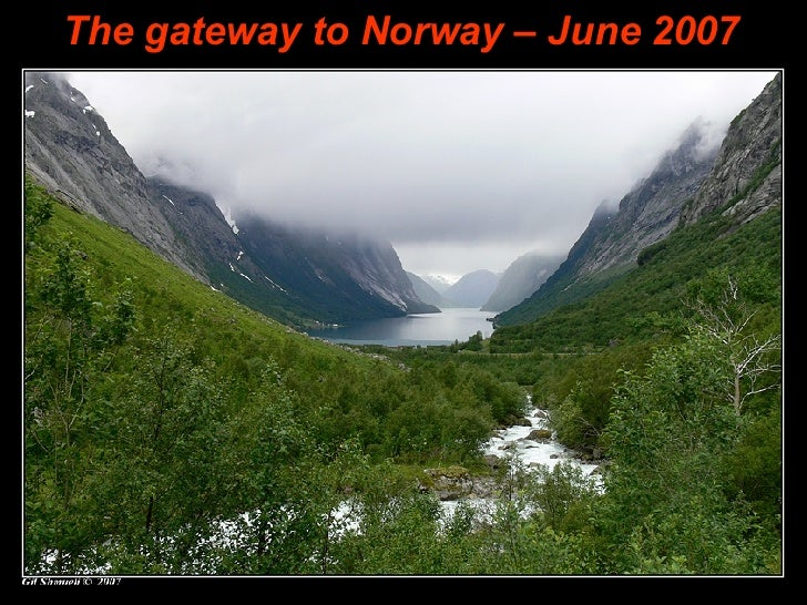 ANBA Powerpoint The gateway to Norway – June 2007