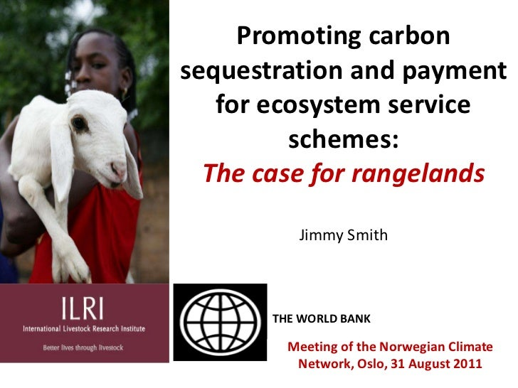 Promoting carbon sequestration and payment for ecosystem service schemes:The case for rangelands<br />Jimmy Smith<br />THE...