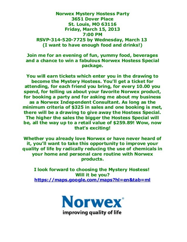 Norwex Party Invitation as great invitation example
