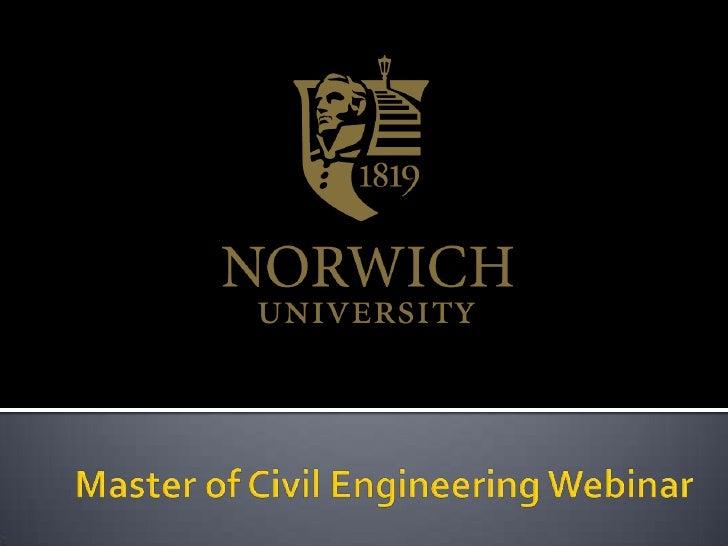 Master of Civil Engineering Webinar<br />