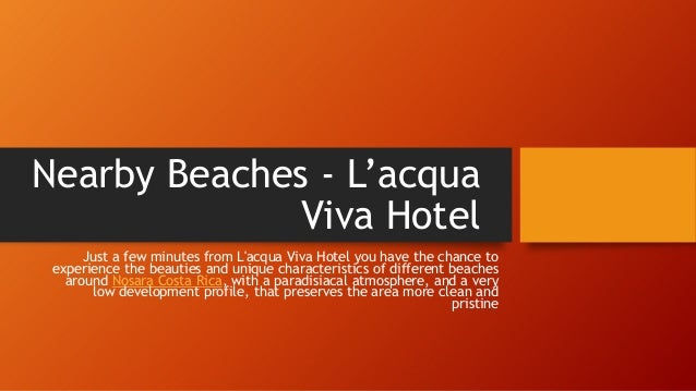 Nearby Beaches - L'acqua Viva Hotel Just a few minutes from L'acqua Viva Hotel you have the chance to experience the beaut...