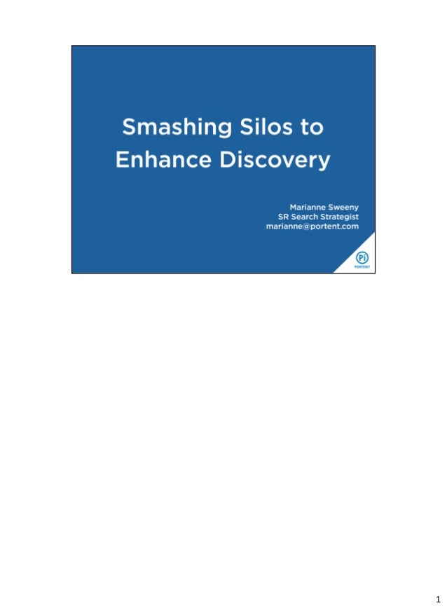 Smashing SIlos: UX is the New SEO