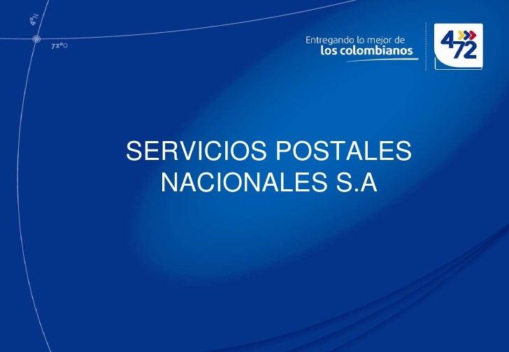 SERVICIOS POSTALES  NACIONALES S.A