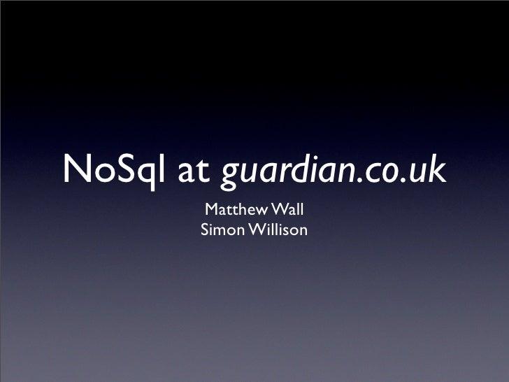 No SQL at The Guardian