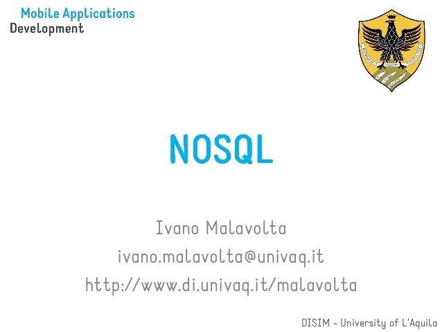 Ivano Malavolta    ivano.malavolta@univaq.ithttp://www.di.univaq.it/malavolta                          DISIM - University ...