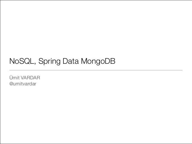 AnkaraJUG Haziran 2013 - No SQL / Big Data