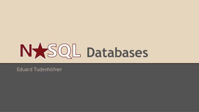 Databases Eduard Tudenhöfner
