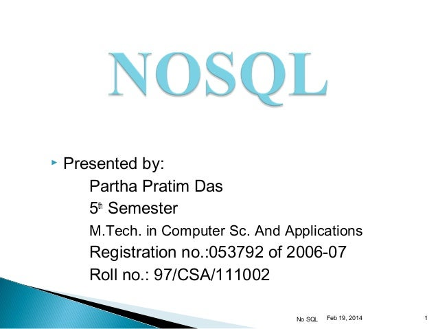 NoSQL Seminer