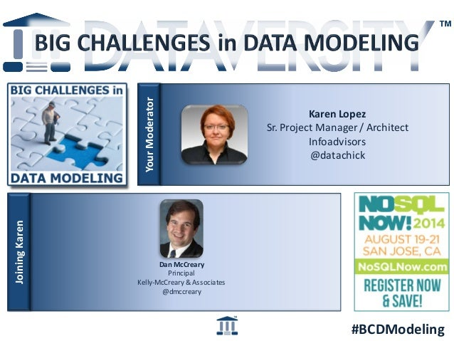Big Challenges in Data Modeling: NoSQL and Data Modeling