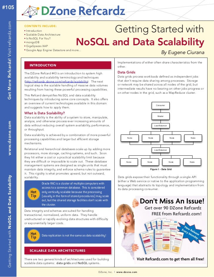 No sql and data scalability