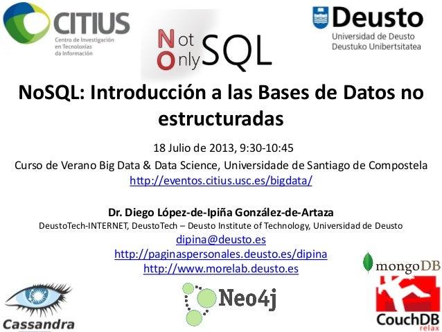 NoSQL: Introducción a las Bases de Datos no estructuradas