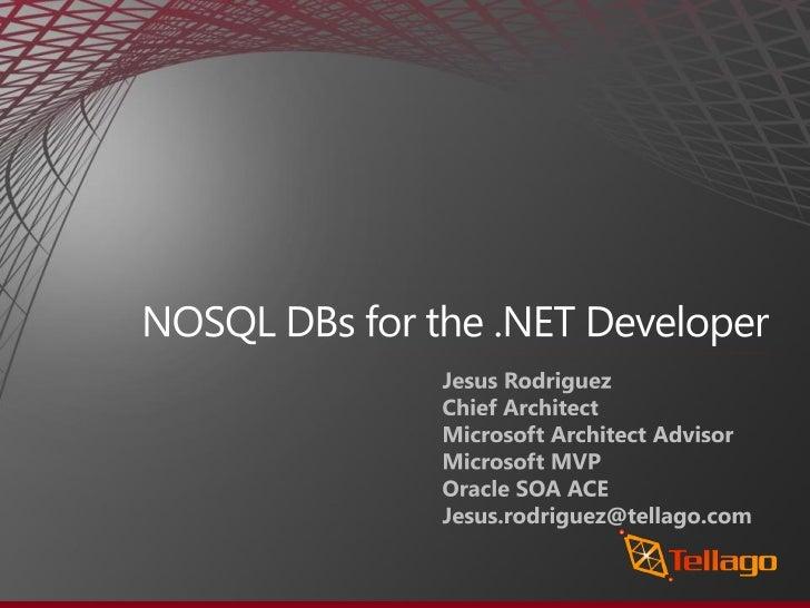 Nosql databases for the .net developer
