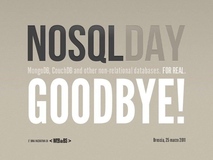 NoSql Day - Chiusura