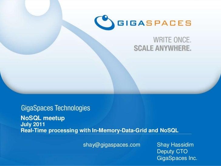 NoSQL meetup July 2011