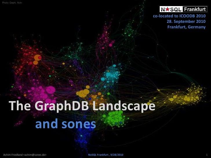 NoSQL Frankfurt 2010  - The GraphDB Landscape and sones