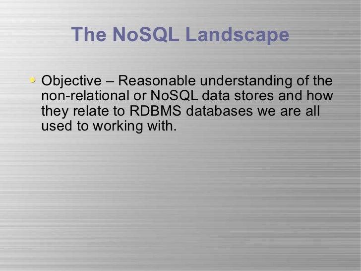 No sql landscape_nosqltips