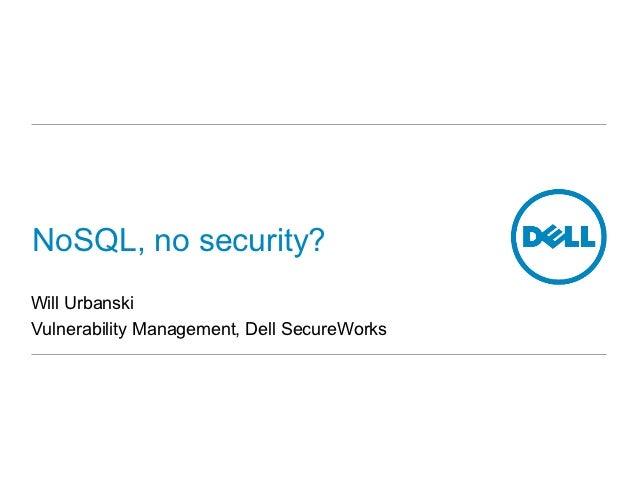NoSQL, no security?