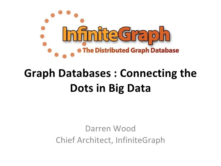 Graph Databases : Connecting the Dots in Big Data Darren Wood Chief Architect, InfiniteGraph