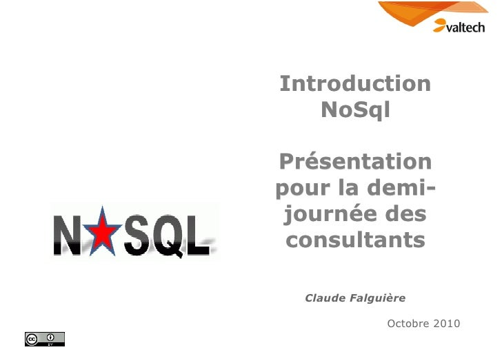 No sql pour valtech tech days