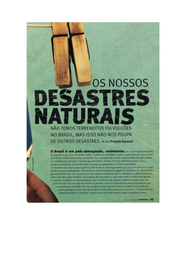 Nossos desastres naturais