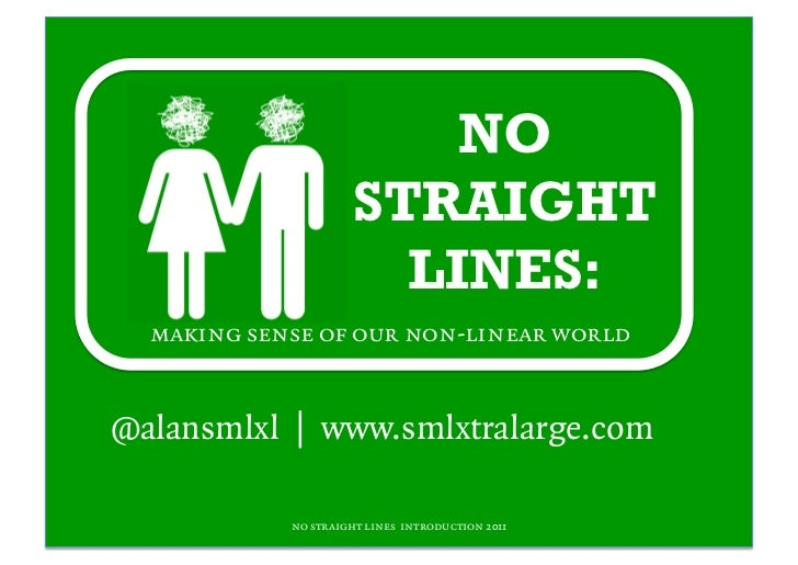 NO                      STRAIGHT                        LINES:  making sense of our non-linear world@alansmlxl | www.smlxt...