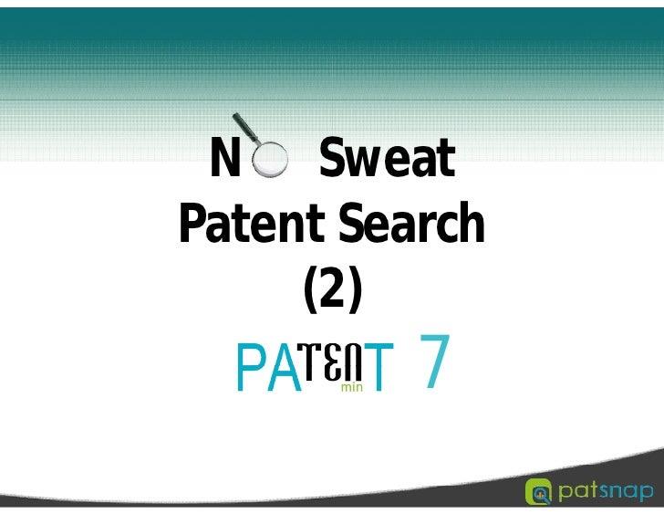 No sweat patent search 2
