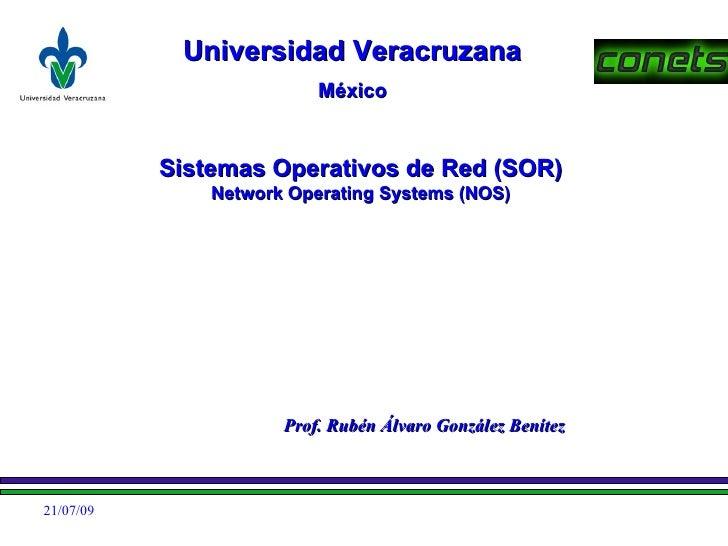 Universidad Veracruzana                           México              Sistemas Operativos de Red (SOR)                Netw...