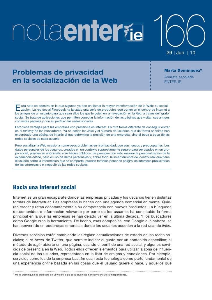 La web social y la privacidad: retos para anunciantes y redes sociales