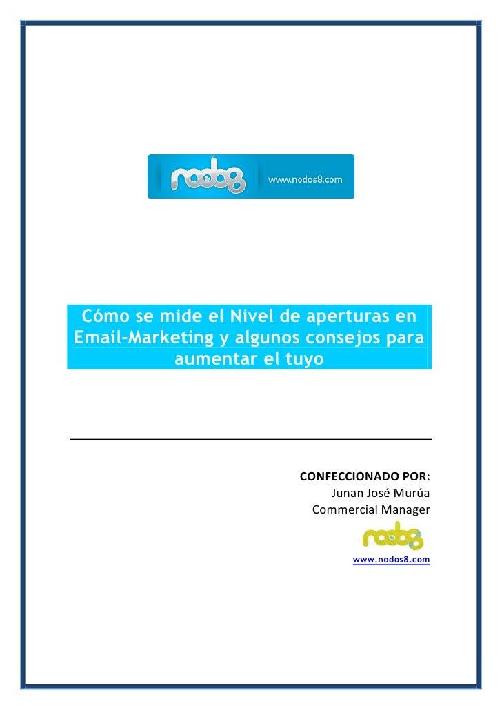 Cómo se mide el Nivel de aperturas en Email-Marketing