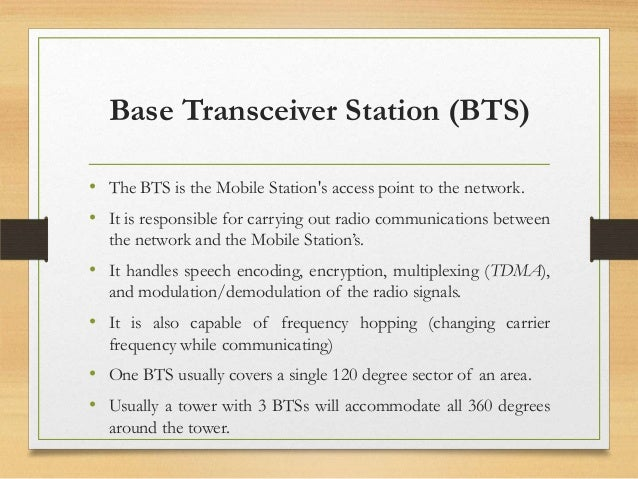 Base Transceiver Station Ppt 48 Base Transceiver Station