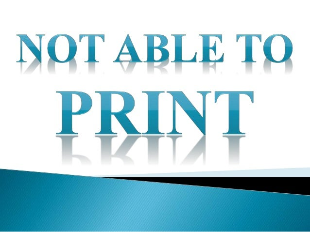not able to print pdf