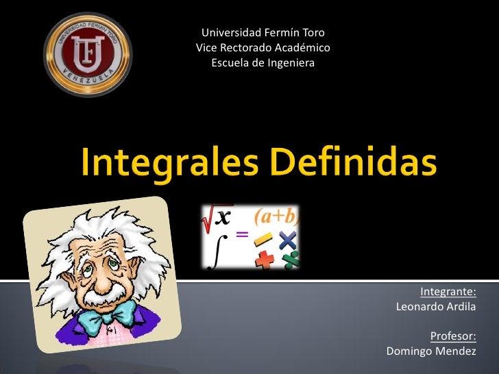 Universidad Fermín ToroVice Rectorado Académico   Escuela de Ingeniera                                Integrante:         ...