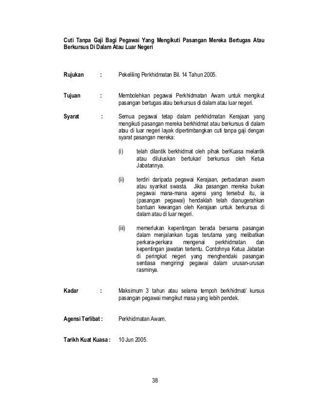 35 Free Download Contoh Surat Rasmi Cuti Tanpa Gaji Format Doc
