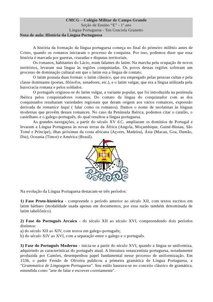 """CMCG – Colégio Militar de Campo Grande                                 Seção de Ensino """"E"""" - 1º ano                       ..."""