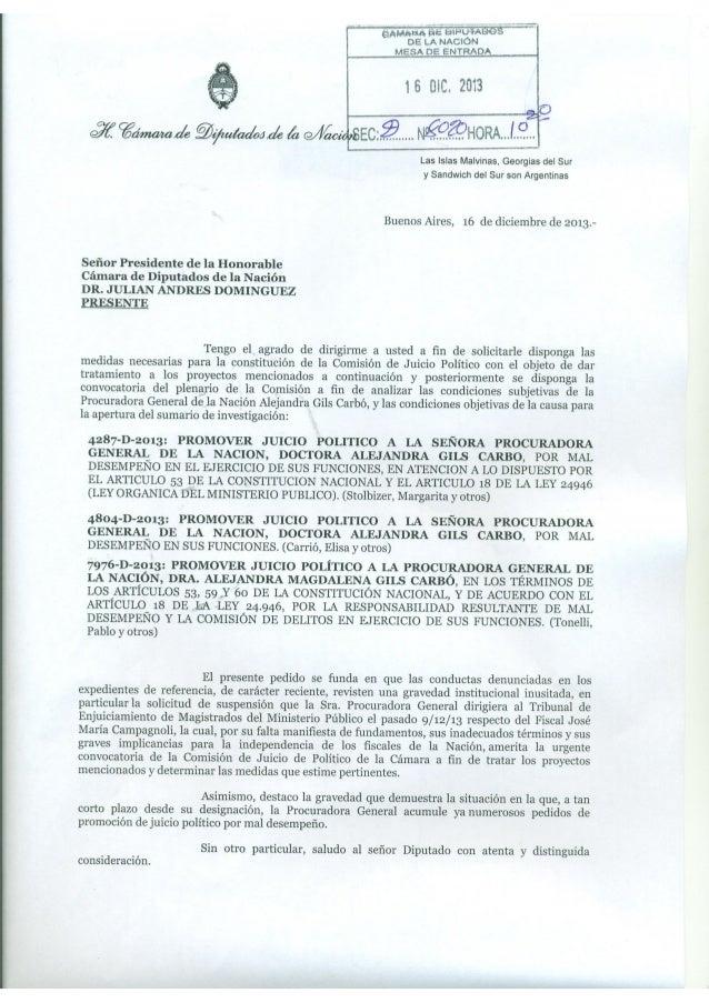 NotaDominguezComisionJuicioPolitico