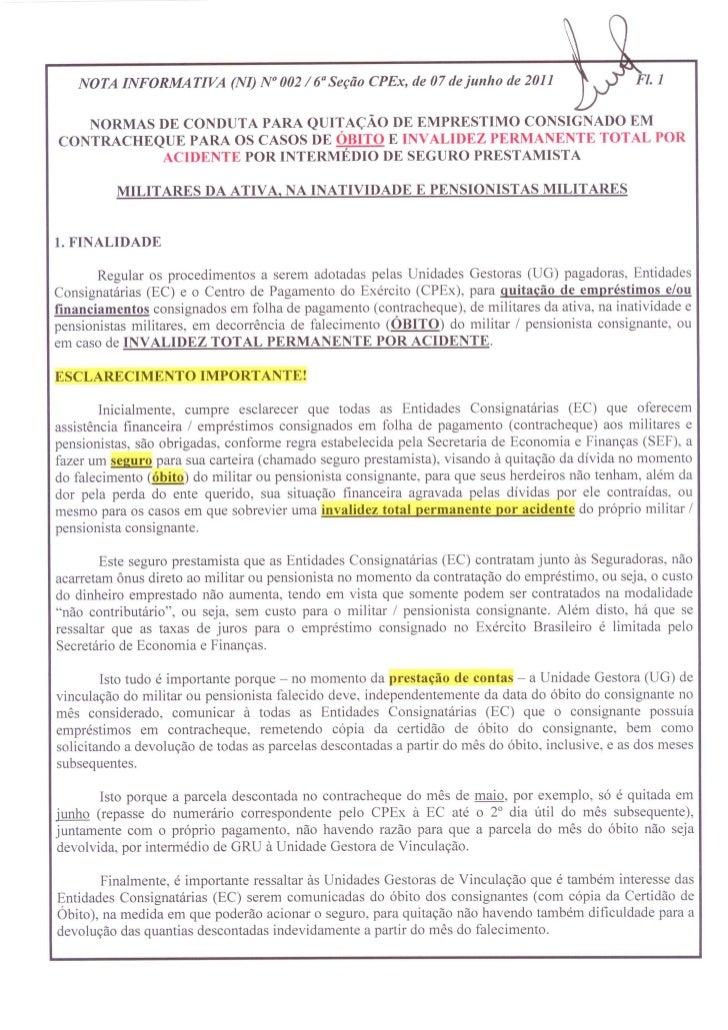 Nota informativa 002 6° seçao-cpex