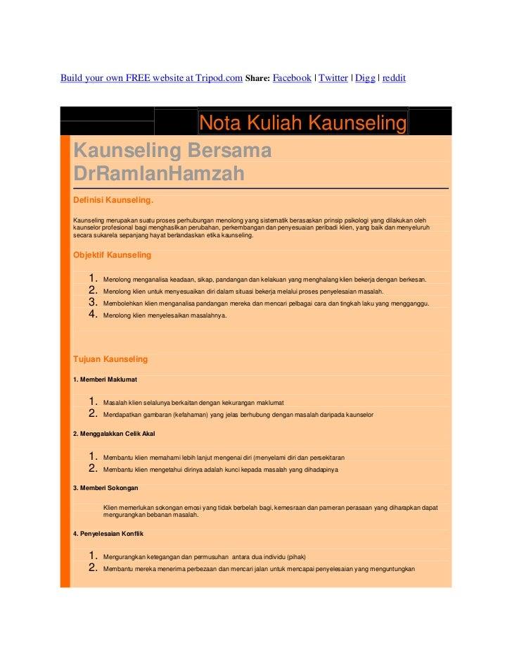 Nota kaunseling