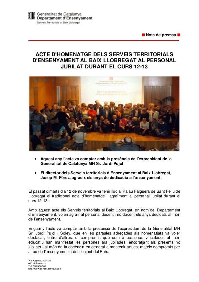 Nota premsa acte jubilats 2013