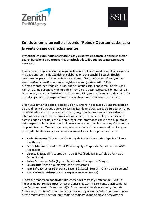 """Concluye con gran éxito el evento """"Retos y Oportunidades para la venta online de medicamentos"""" Profesionales publicitarios..."""