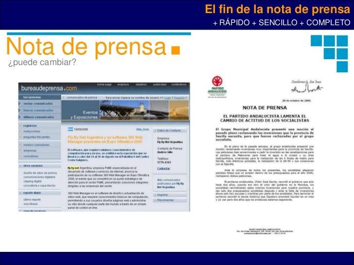 El fin de la nota de prensa                   + RÁPIDO + SENCILLO + COMPLETONota de prensa¿puede cambiar?