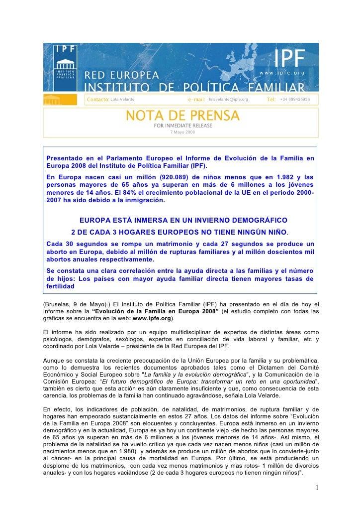 Lola Velarde                       lolavelarde@ipfe.org      +34 699426936                                                ...