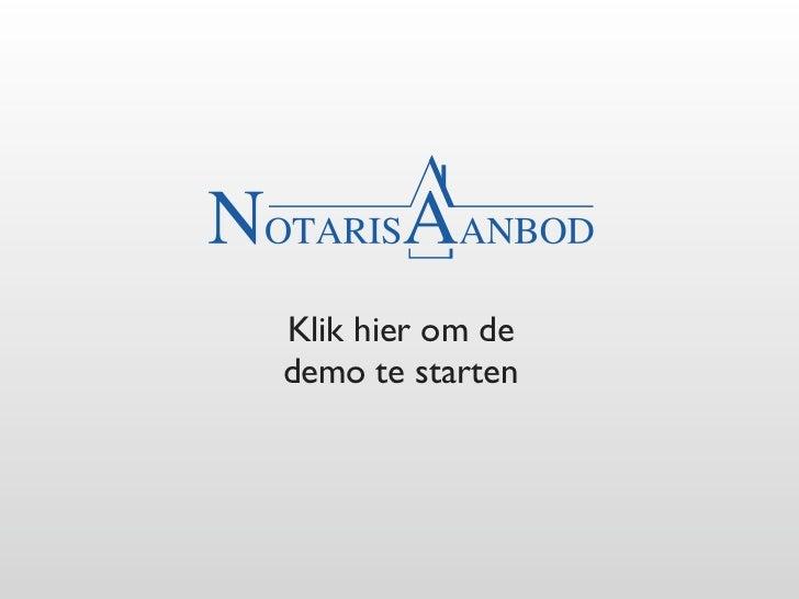 Notarisaanbod WE/ASSIST