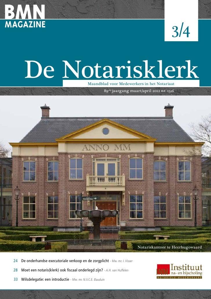 De Notarisklerk | maart/april 2012                                                                                        ...